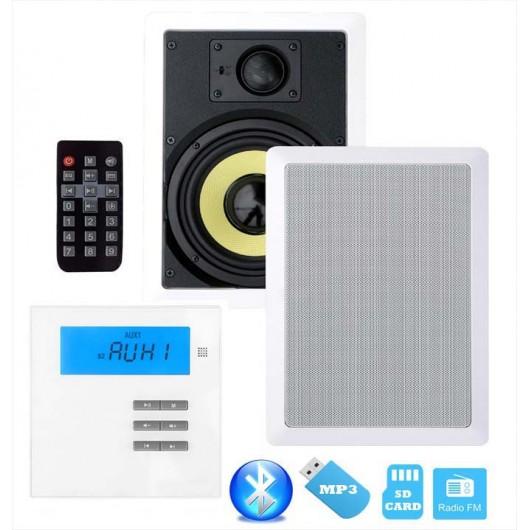 """P2 RADIO POD ZABUDOWĘ Z BLUETOOTH / USB/ SD CARD STEREO  + 2x GŁOŚNIK 6,5"""""""