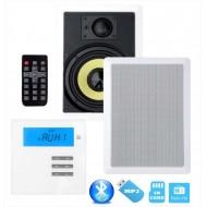"""P2 RADIO POD ZABUDOWĘ Z BLUETOOTH / USB/ SD CARD STEREO  + GŁOŚNIK 7"""" PROSTOKĄT"""