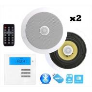 """P2 RADIO POD ZABUDOWĘ Z BLUETOOTH / USB/ SD CARD STEREO  + GŁOŚNIKI 6,5"""" OKRĄGŁE"""