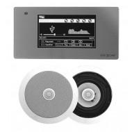 """P2 RADIO POD ZABUDOWĘ Z BLUETOOTH USB SD CARD LAN / STEREO  + GŁOŚNIKI 6,5"""" OKRĄGŁE"""