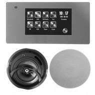 """P2 RADIO POD ZABUDOWĘ Z BLUETOOTH USB SD CARD LAN / STEREO  + GŁOŚNIKI 8"""" 120W"""