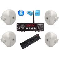 P2 ZESTAW AUDIO NATYNKOWY Z BLUETOOTH / USB/ SD CARD STEREO  + GŁOŚNIKI 4x 70W