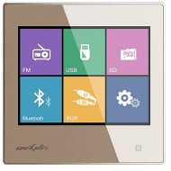 DSPPA PANEL DOTYKOWY Z RADIEM / BLUETOOTH / USB/ SD CARD STEREO ZŁOTY
