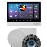 "P2 SYSTEM AUDIO TABLET POD ZABUDOWĘ Z WI-FI BLUETOOTH SD CARD HDMI / STEREO  + GŁOŚNIKI 6,5"" OKRĄGŁE"