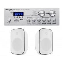 P2 ZESTAW NATYNKOWY Z RADIEM FM / BLUETOOTH / USB/ SD CARD STEREO  + GŁOŚNIKI IPX5 2x 60W