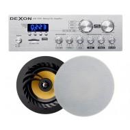 P2 ZESTAW AUDIO Z RADIEM FM / BLUETOOTH / USB/ SD CARD STEREO  + GŁOŚNIKI LA 2x 60W
