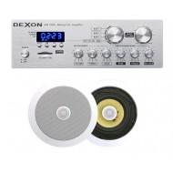 P2 ZESTAW AUDIO Z RADIEM FM / BLUETOOTH / USB/ SD CARD STEREO  + GŁOŚNIKI 2x 50W