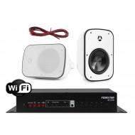 FONESTAR WZMACNIACZ STEREO Z WIFI / USB 40W Z GŁOŚNIKAMI NATYNKOWYMI IPX5 60W