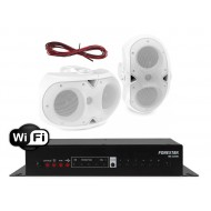 FONESTAR WZMACNIACZ STEREO Z WIFI / USB 40W Z GŁOŚNIKAMI NATYNKOWYMI IPX4 75W