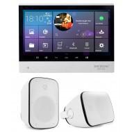 P2 SYSTEM AUDIO TABLET POD ZABUDOWĘ Z WI-FI BLUETOOTH SD CARD HDMI / STEREO  + GŁOŚNIKI NATYNKWE IPX5 60W