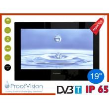"ProofVision WODOODPORNY TELEWIZOR ŁAZIENKOWY 19"" DVB-T/USB/HDMI"