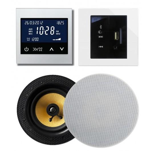 RETROTOUCH T2000 ZESTAW RADIOWY POD ZABUDOWĘ Z BLUETOOTH/USB/SD CARD