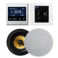 RETROTOUCH T2000 ZESTAW RADIOWY POD ZABUDOWĘ Z BLUETOOTH/USB/AUX BIAŁY