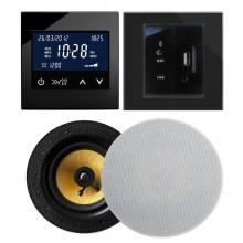 RETROTOUCH T2000 ZESTAW RADIOWY POD ZABUDOWĘ Z BLUETOOTH/USB/AUX CZARNY