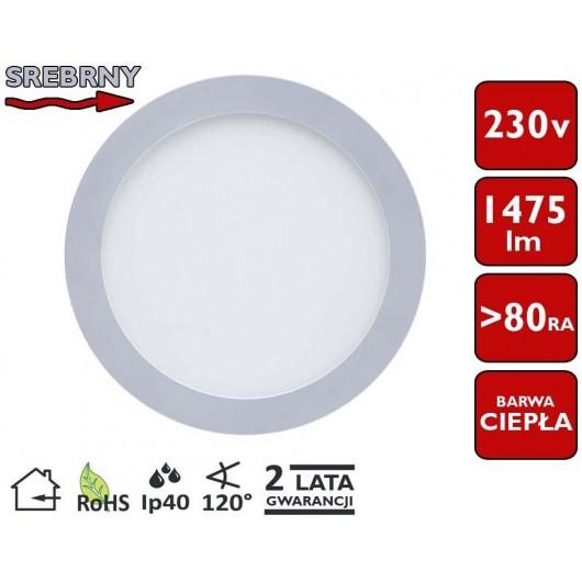 SONDELED PANEL SUFITOWY LED OKRĄGŁY 22,5cm 18W 1650lm
