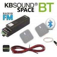 KBSOUND SPACE RADIO Z BLUETOOTH + GŁOŚNIKI POD ZABUDOWĘ 50893+15609