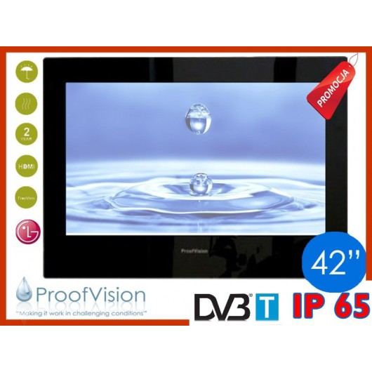 "ProofVision WODOODPORNY TELEWIZOR ŁAZIENKOWY 24"" DVB-T/USB/HDMI"