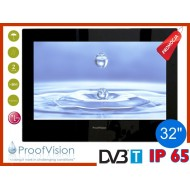 "ProofVision WODOODPORNY TELEWIZOR ŁAZIENKOWY 32"" DVB-T/USB/HDMI"